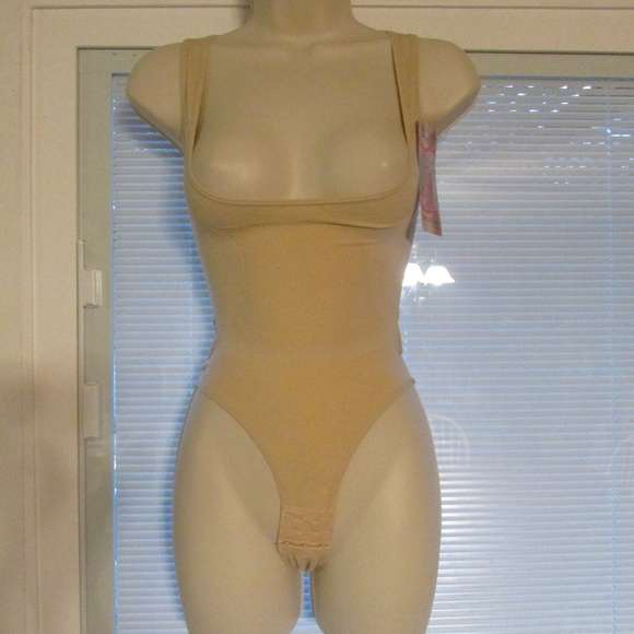 cf36c16a96c56 Inteco Seamless Shaper Bodysuit Sz S M 1 pc Nude